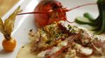 Fricassée de homard canadien à l'orangette