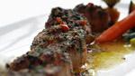 Pétoncles en croûte d'épices, tomates séchées et beurre d'ail