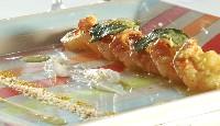 Sauté de crevettes au curry et noix de coco