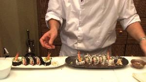 Maki au crabe et aux crevettes