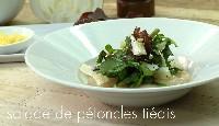 Carpaccio de pétoncles et salade de viande des Grisons au citron confit