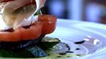 Légumes grillés, mozzarella di bufala et prosciutto