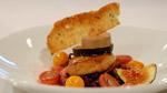 Foie gras de deux façons, compote de chou et pomme