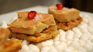 Tarte fine poires et cannelle au foie gras ou au fromage