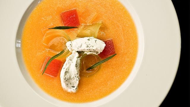 Soupe froide au melon à l'hydromel