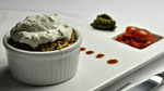 Croustade de tomates confites et yogourt au fromage de chèvre