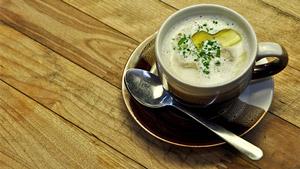 Cappuccino de champignons et foie gras