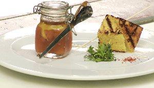Pot de foie gras d'oie, marmelade de cantaloup