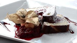 Clafoutis aux framboises et au chocolat blanc