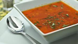 Soupe tomate, orange et estragon