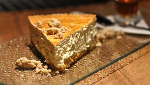 Gâteau au fromage aux feuilles d'érable