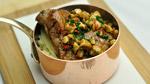 Ris de veau au miel et jalapeño, écrasé de chou-fleur, parmesan et noix de cajou