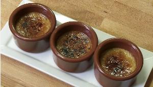 Crème brûlée au foie gras et pomme caramélisée
