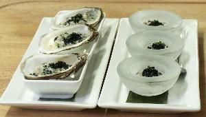 Tartare d'huîtres au caviar de mulet