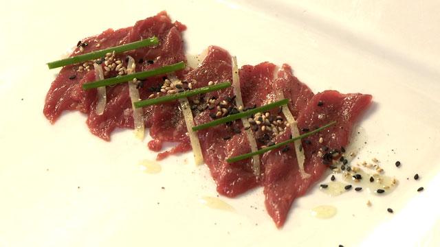 Sashimi de merlan de bœuf