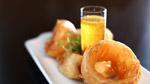 Beignets d'oignon rouge à la bière Chipie SSS et trempette de miel et gingembre