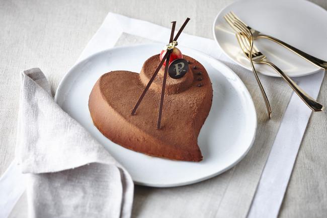 gateau coeur chocolat brownies
