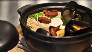 Soupe-repas au bouillon de moules