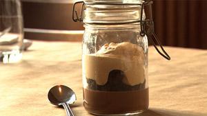 Pot de crème au chocolat, caramel et sel de Maldon