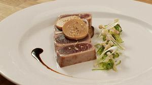 Thon et foie gras traités de façon gourmande